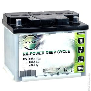 BATTERIE VÉHICULE NX - Batterie plomb ouvert NX Power Deep Cycle 12V