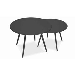 Tables basses de jardin gigognes bleues - Achat / Vente table basse ...