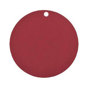 MARQUE-PLACE  Étiquette ronde bordeaux (x10) REF/3352