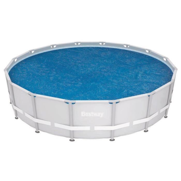 BESTWAY Bâche solaire Ø 462cm pour piscine Frame Pool Ø 488cm