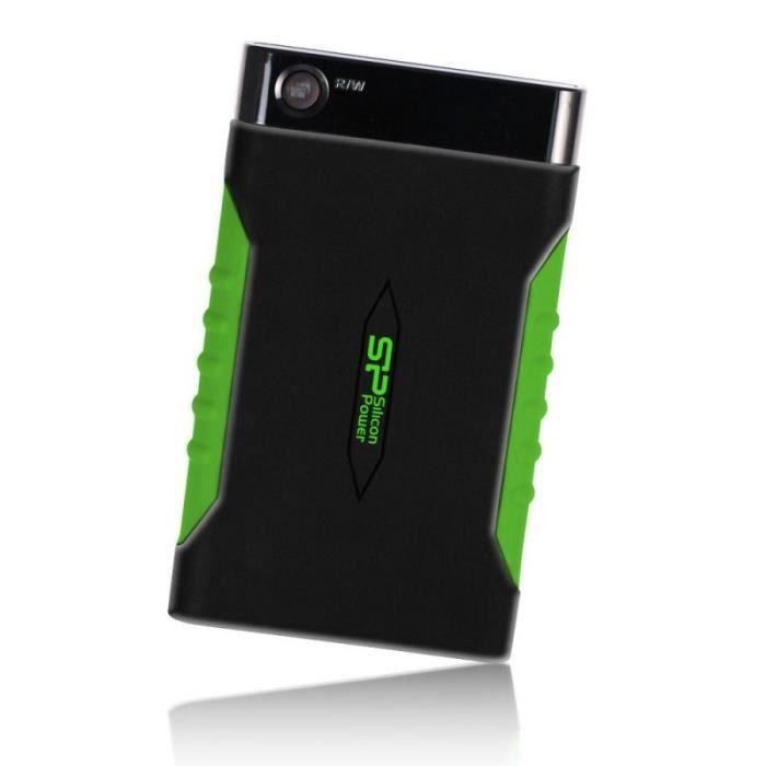 SILICON POWER Disque dur externe USB 3.0 A15 - 1 To - Noir & Vert