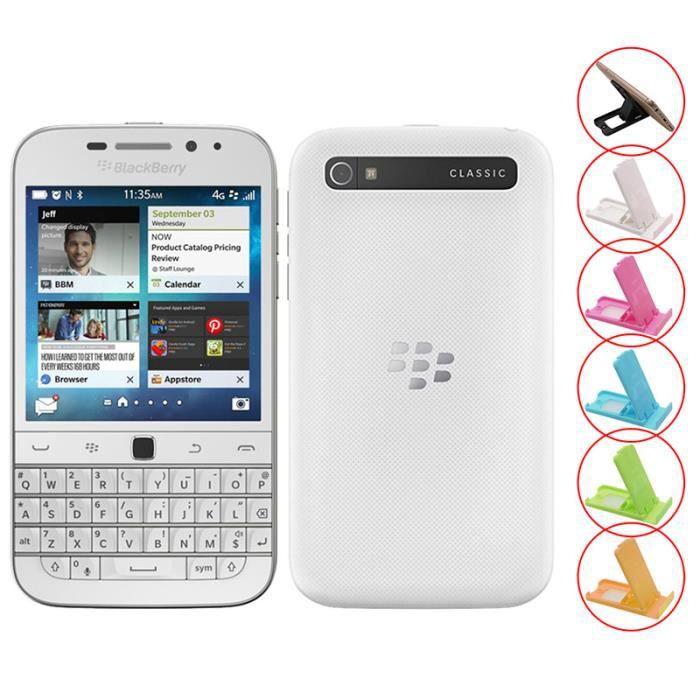 SMARTPHONE Blanc BlackBerry Classic Q20 occasion débloqué rem