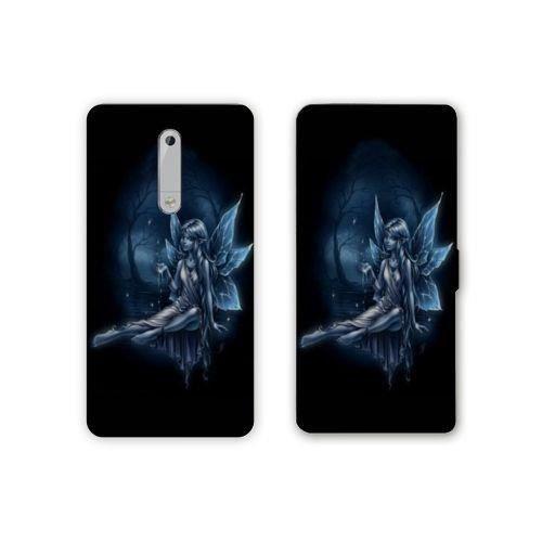RV Housse cuir portefeuille Nokia 6 - N6 Fantastique taille unique Fée Bleu N