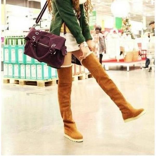 XZ645A5XZ645A5L'hiver des femmes cuisse plat haute bottes de neige sur bottillons genou de fille chaussures de l'école 0UopVv