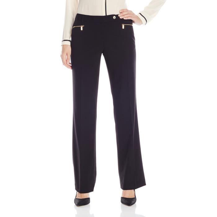 CALVIN KLEIN Straight-Leg Suit Pant 1NTKYF Taille-32 Gris Noir ... 3b6d9e4dbe1