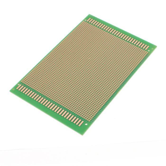 sourcingmap/® 3 pcs Prototype PCB universel simple face Circuit Imprim/é 10 x 15 cm Vert