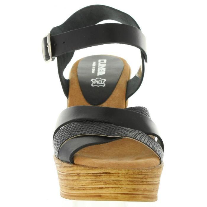 Sandales Pour Cumbia Negro Piel Femme 31001 H0qBOnHr