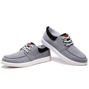 Chaussures En Toile Hommes Basses Quatre Saisons Durable XX-XZ112Gris43 1GRZPHcY