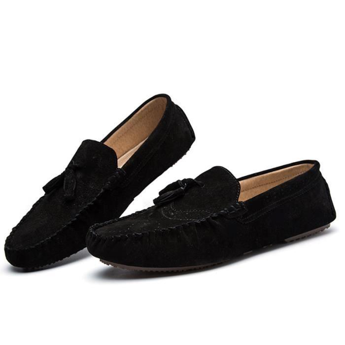 Chaussures Hommes Cuir Confortable mode Homme chaussure de ville BBZH-XZ197Noir38 fPb4SP
