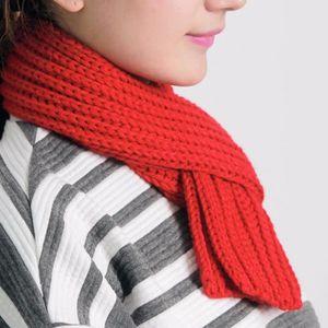 ECHARPE - FOULARD Écharpe couleur unie hiver tricoté mignon collier 1eae6ce5c4e1