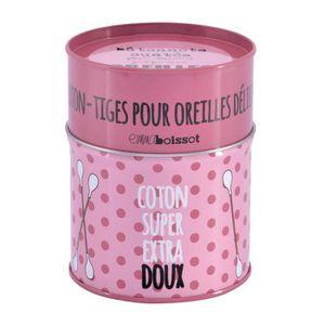 DISTRIBUTEUR DE COTON Boîte / Pot À Cotons Tiges EXTRA DOUX En Métal Déc