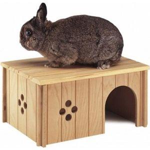 ACCESSOIRE ABRI ANIMAL Maison en bois pour lapin - sin4646