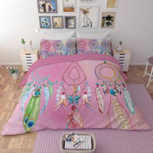 HOUSSE DE COUETTE SEULE Parure de lit attrape rêves 220*240 cm 4 pieces