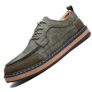 Sneaker Mode Homme AntidéRapant Style britannique Chaussure De Loisirs de plein air Chaussure De Brand Hommes Plus Taille K44hwGF8E