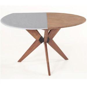 PROTÈGE TABLE Protège-table ronde réversible 140 à 160 cm blanc