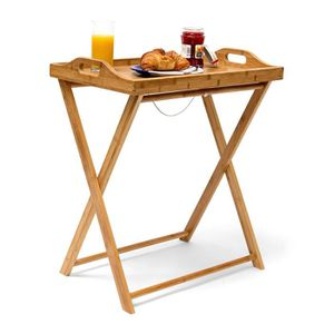TABLE D'APPOINT Relaxdays 10019136  Table d'appoint pliante pliabl