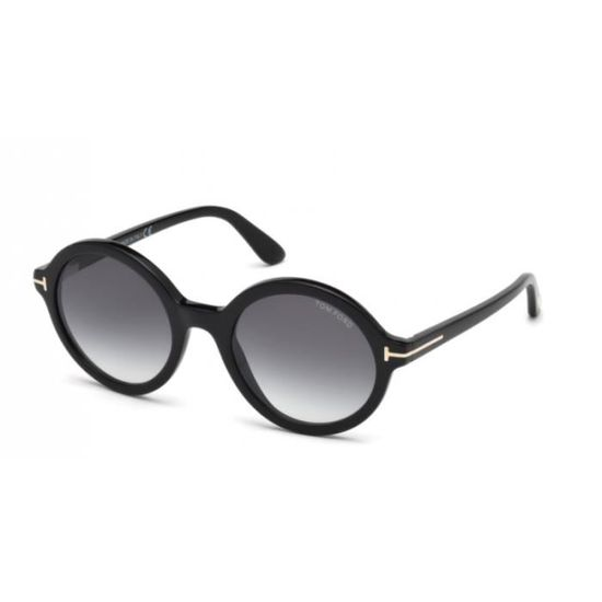 Lunettes de soleil femme Tom Ford FT0602 001 Noir 52-14 - Achat   Vente  lunettes de soleil Femme Adulte - Soldes  dès le 9 janvier ! Cdiscount 867df6a4ae2b