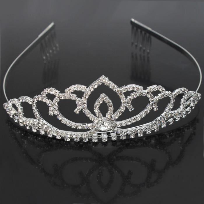 elgant bandeau de diadme couronne princesse reine strass pr mariage bal soire - Couronne Princesse Adulte