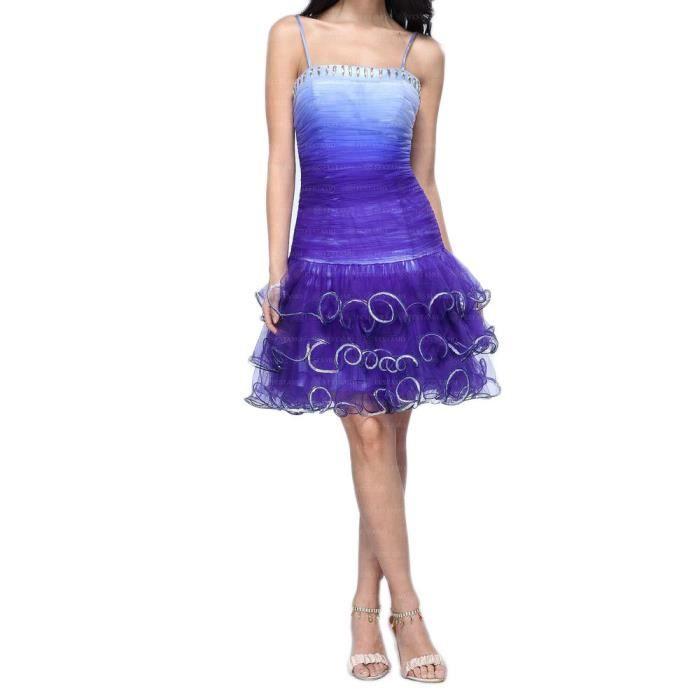 femmes robe Festamo soirée dansante violet 44