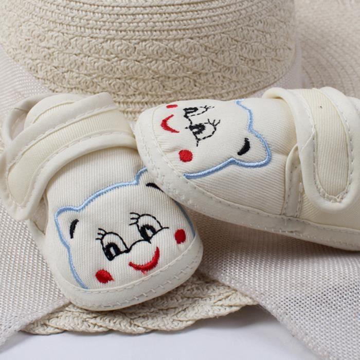 BOTTE Bébé fille garçon doux semelle anti-dérapant chaussures chaussures pour tout-petits@Beige cX92d