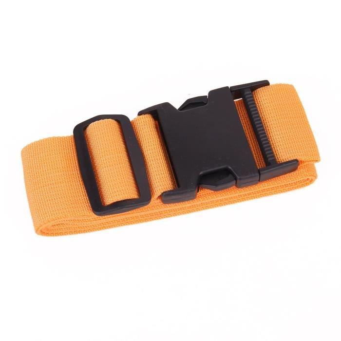 Ceinture d emballage Sangle de Valise Sangle de Securite - Orange ... ab75a8628e9