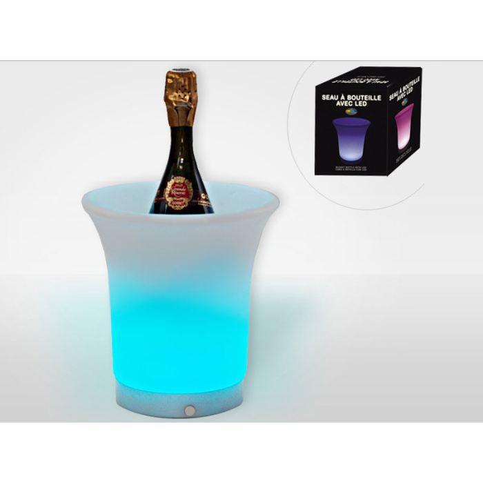 seau a bouteille avec led change de couleur achat vente seau rafraichisseur seau a. Black Bedroom Furniture Sets. Home Design Ideas
