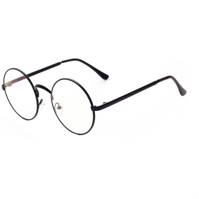 pour hommes métal en Vintage lentilles claire et Round lentille à Lunettes cadre femmes qfBIxOwX