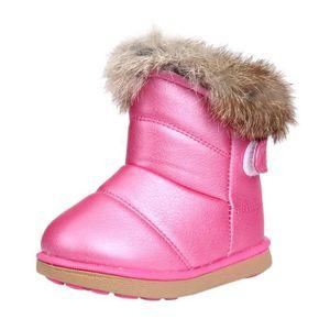 Coton hiver bébé garçons filles enfants chaussures en cuir Martin bottes Chaud ChaussuresRose vif 2PwtXkptUx