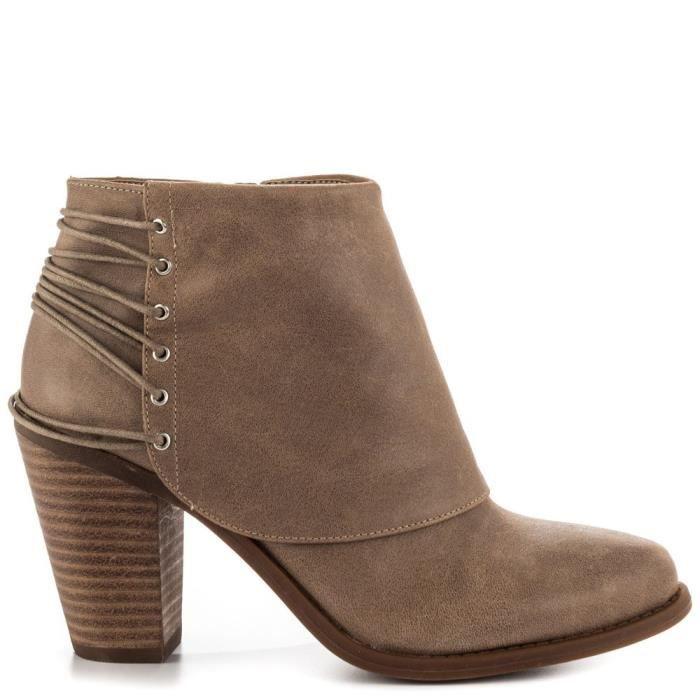 Jessica Simpson Femmes Caysy cuir Toe fermé cheville de mode Bottes B. F6VL9 Taille-36 1-2