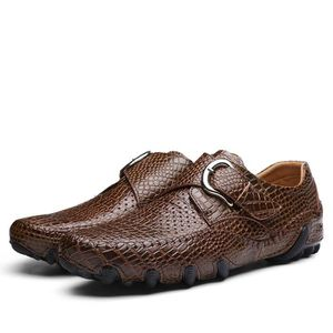 ROSSI HOMME 6419M MARRON CUIR CHAUSSURES À BOUCLES czXZzDQ