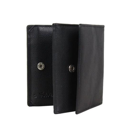 Petit porte monnaie cartes cuir Silvercat empreinte SC413 (Noir) - Achat    Vente porte monnaie 3700460720254 - Soldes  dès le 9 janvier ! Cdiscount b6449dd209a