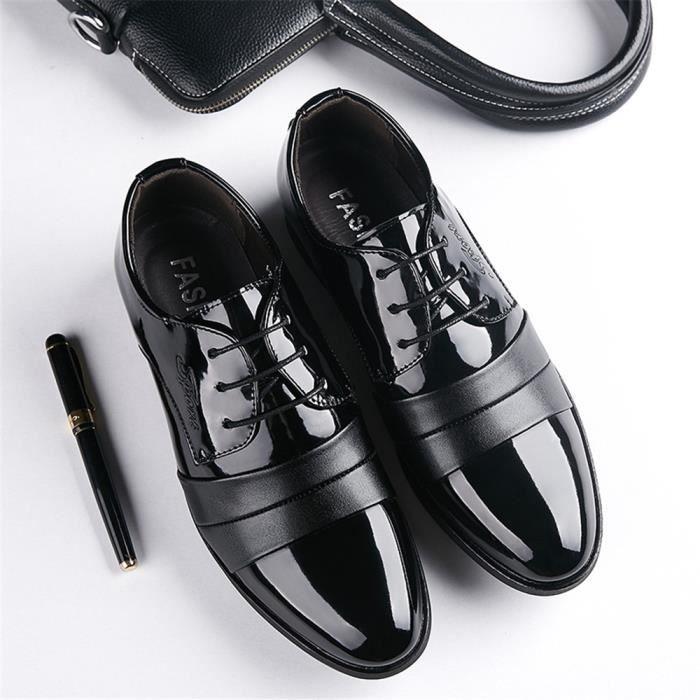Cuir En Toe Hommes Habillées À Cap D'affaires Confortable Lacets Derby Chaussures Formelles Pour wOdHYqqXx