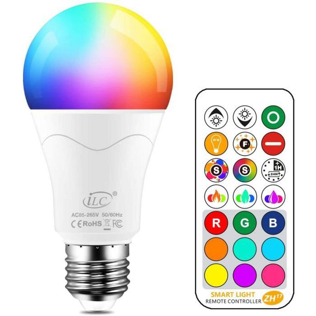 changm ampoule e27 led rgbw,10w ampoules de couleur rgb + blanc