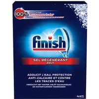 FINISH DN4 Boîte de sel régénérant anti-corrosion pour lave-vaisselle - 4 Kg