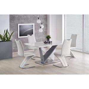 TABLE À MANGER SEULE Table à manger design extensible 160 cm x 90cm x 7