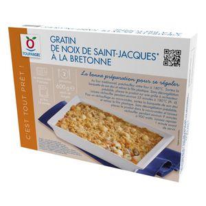 POISSON CUISINÉ Gratin de noix de Saint Jacques à la Bretonne surg