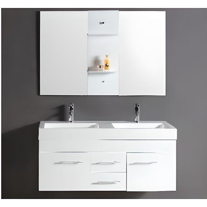 Le Calypso Blanc : Ensemble meuble de salle de bain en chêne, 2 ...