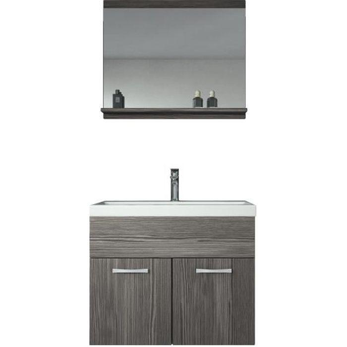 Meuble de salle de bain de Montréal 02 Bodega - Armoire de rangement Meuble  lavabo évier Meuble lavabo 60x35 cm