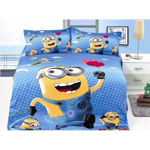 Parure de lit enfant 2 soeurs minions achat vente - Parure de lit om 2 personnes ...