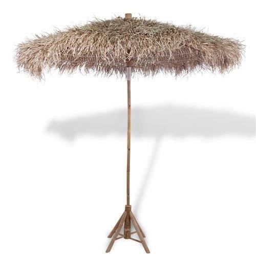Parasol en bambou avec toit en feuilles de bananier 270 cm   Achat