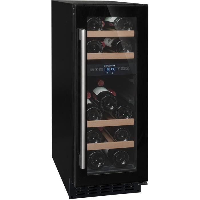 Cave à vin de service - 2 temp. - 17 bouteilles - Noir - AVINTAGE ... a397415f1cda