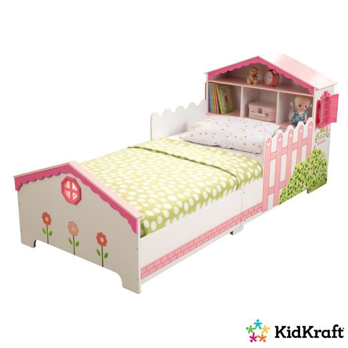 structure de lit kidkraft lit tout petit maison de poupe multi