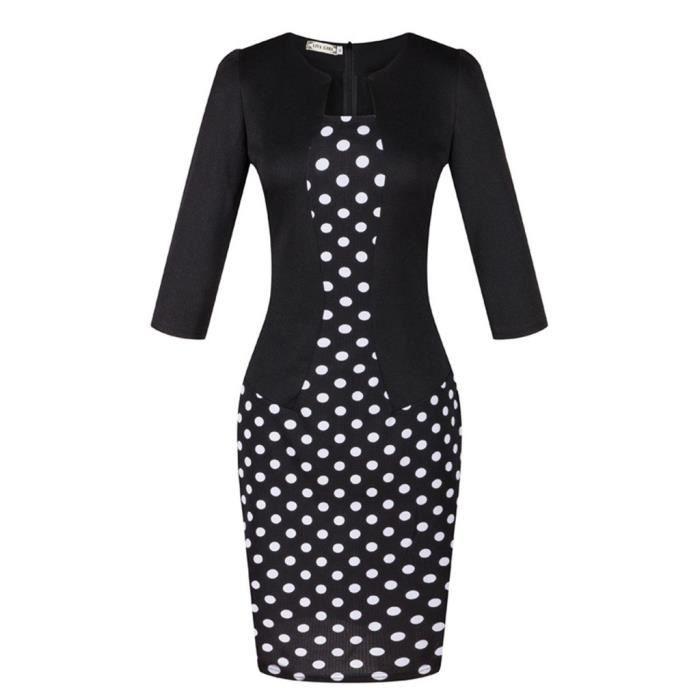 femmes nouvelle robe à manches faux deux-pièces...