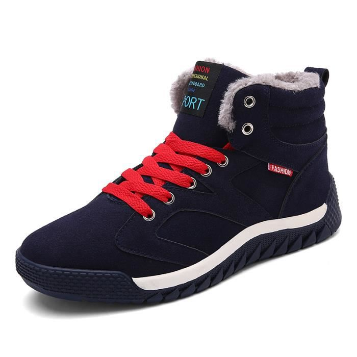 Botte basse Chaussures Homme Chaussures avec coton Chaussures pour l'hiver Botte original en solde Botte anti-glissant UGG KuEh1L