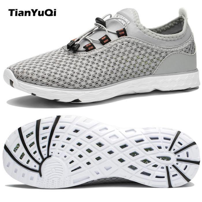 Chaussures respirable hommes élastique souliers mesh coo'aise élastique hommes 42865a