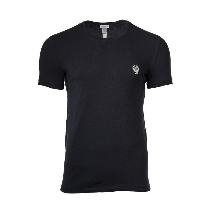Dolce   Gabbana T-shirt Sous-vêtements Hommes Sport Crest col rond ... 06e7fd5282ac