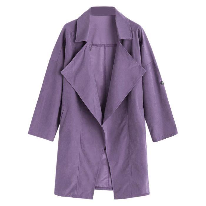 Outwear Coupe Manches vent femmes Manteaux Solides Lansman Veste Manteau Longues Em7706196 Lâche Parka UFq6xZ