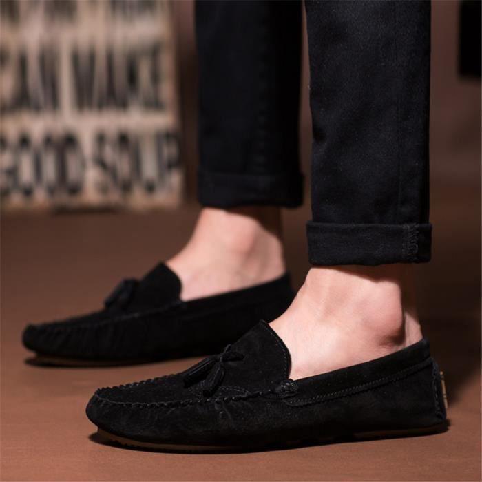 Haut Pour Chaussures Décontractées Conduite bleu Femme Respirant Qualité 39 Des 44 Taille De 39 Grande Moccasins Bqt8Iw8zx5
