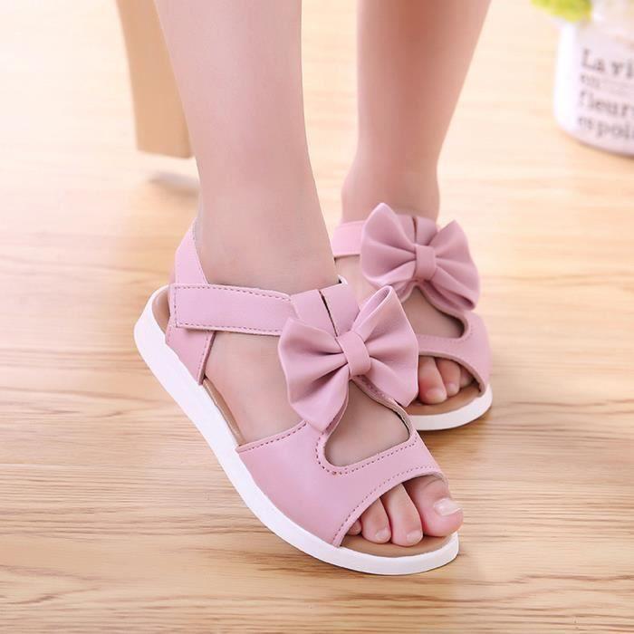 BOTTE Été Enfants Enfants Sandales Mode Bowknot Filles Plat Pricness Chaussures@RoseHM IpjJGxd1