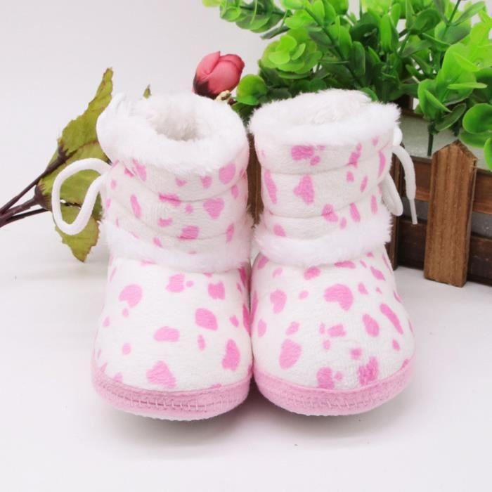 Pour ns Doux Nouveau De ons Neige Bottillons Tout Filles Bb Rchauffement petit Bottes rose Chaussures Gar 8wpxgW47q